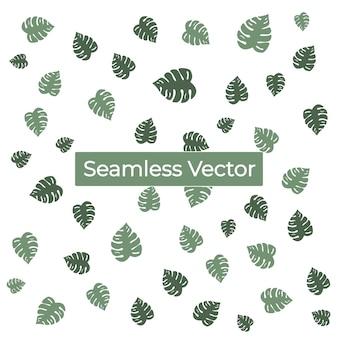 Tropical sem costura padrão fundo premium vector