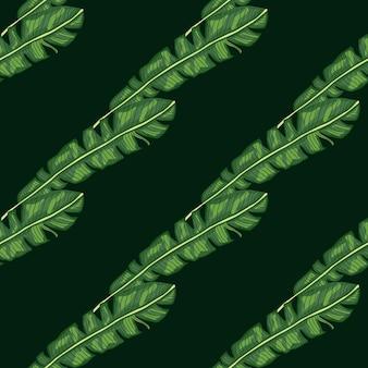 Trópico botânico diagonal deixa o padrão sem emenda de impressão verde.