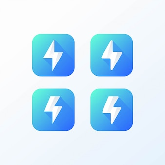 Trovão conjunto de ícones