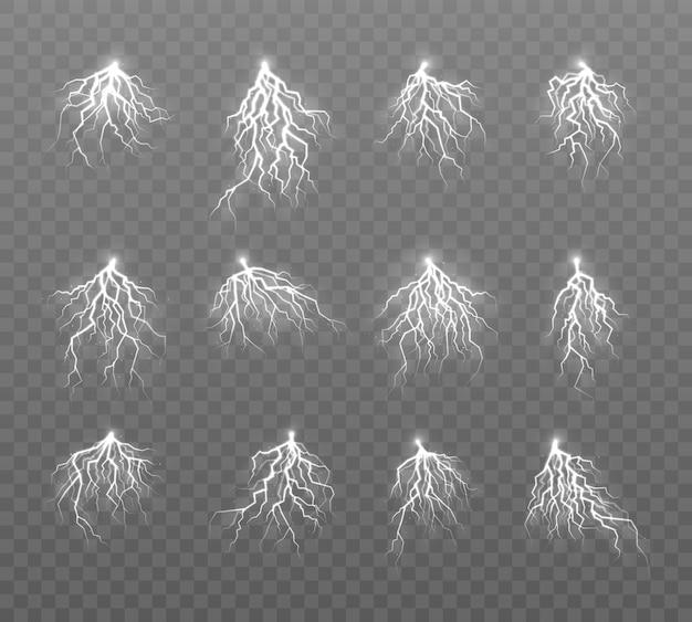 Trovões em cinza transparente
