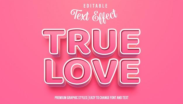 True love pinky style texto editável efeito