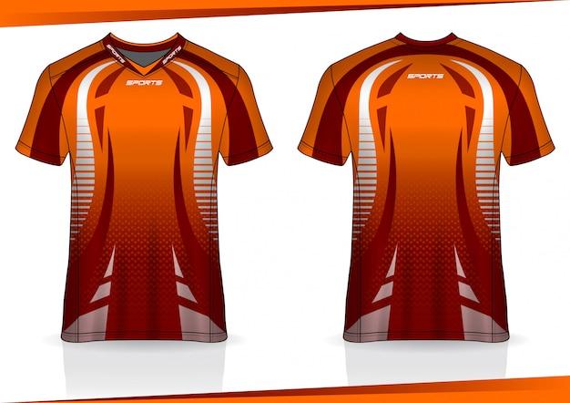 Tshirt esporte futebol jersey modelo de design