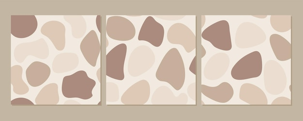 Ttrendy elegante padrão sem emenda de vetor definido com formas orgânicas abstratas e linhas em tons pastel de nude. bege neutro, fundo boho de terracota.
