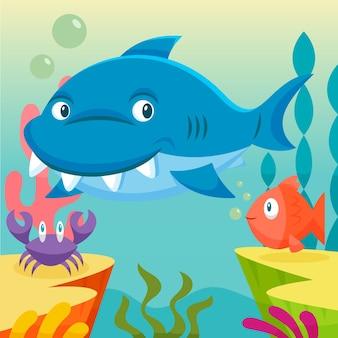 Tubarão adorável bebê