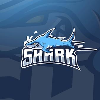 Tubarão assassino para equipe de jogos esportivos