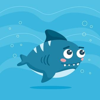 Tubarão bebê fofo