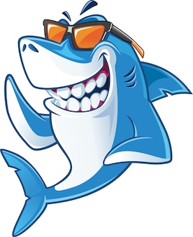 Tubarão com óculos de sol