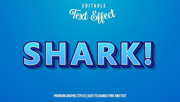Tubarão, estilo azul efeito de texto no estilo do título do jogo
