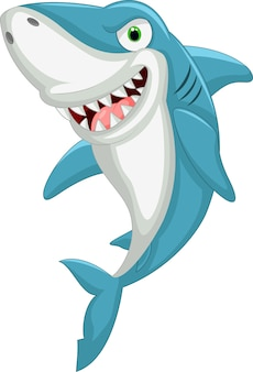Tubarão irritado dos desenhos animados