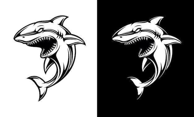 Tubarão preto e branco