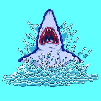 Tubarão salta da água