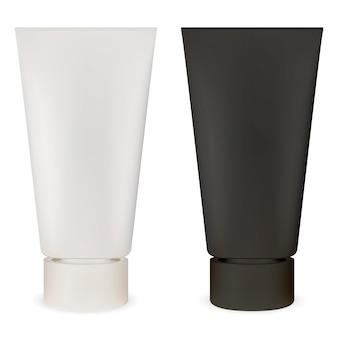 Tubo cosmético. maquete de recipiente de plástico. lubrificante
