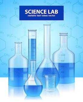 Tubos de ensaio de laboratório realistas