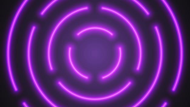 Tubos de iluminação violeta de néon