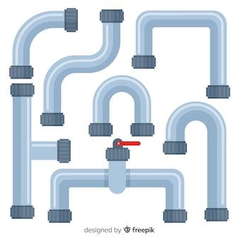 Tubos de metal com conjunto de alavanca em design plano