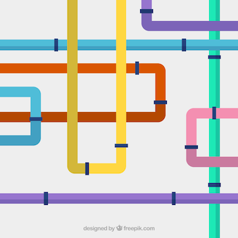 Tubulações de água multicoloured