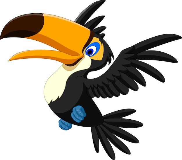 Tucano feliz voando