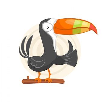 Tucano mão ilustrações desenhadas