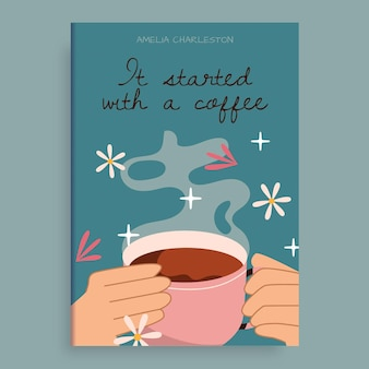 Tudo começou com uma capa de livro wattpad de café
