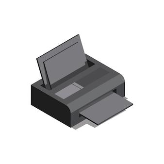 Tudo em uma impressora isolada no fundo