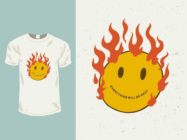 Tudo ficará bem palavras citadas para o design da camisa