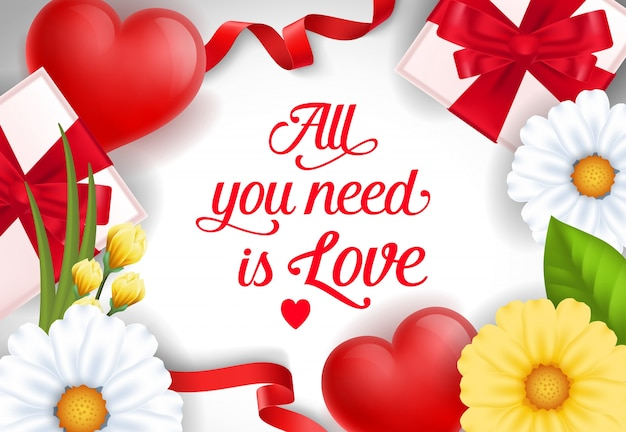 Tudo o que você precisa é bandeira de amor