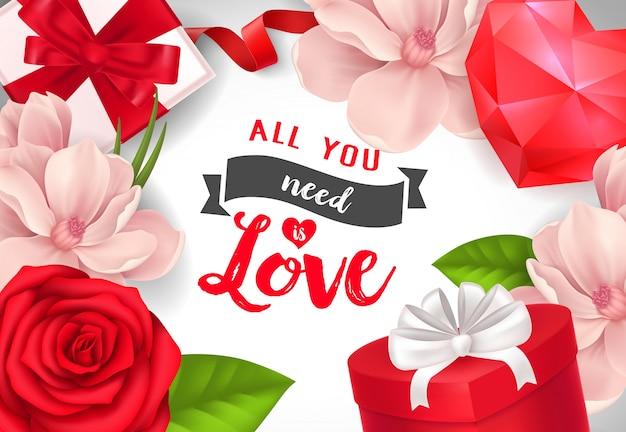 Tudo o que você precisa é poster de amor