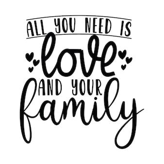 Tudo que você precisa amor e sua família