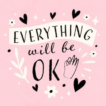 Tudo vai ficar bem com corações