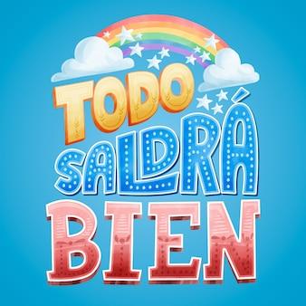 Tudo vai ficar bem em letras espanholas
