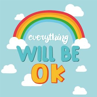 Tudo vai ficar bem letras com um arco-íris