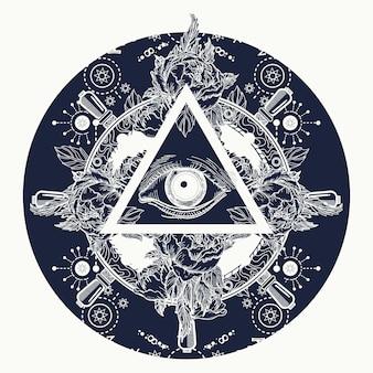 Tudo vendo pirâmide ocular