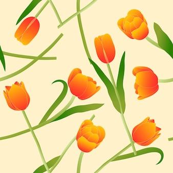 Tulipa laranja em fundo bege marfim