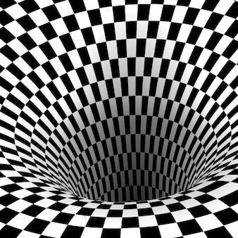 Túnel de buraco de minhoca abstrato