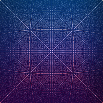 Túnel rhombic infinito de vetor de chamas brilhantes
