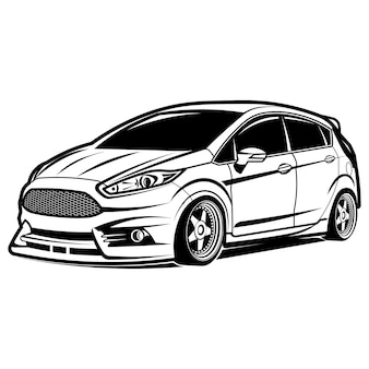 Turbo de carro pequeno e rápido turbo quente
