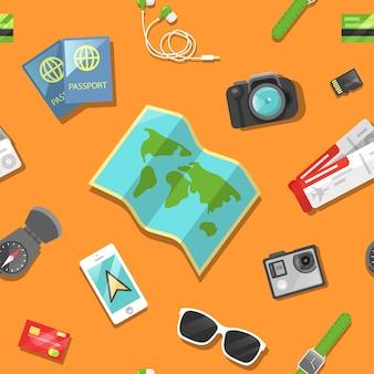 Turismo e viagens padrão sem emenda.