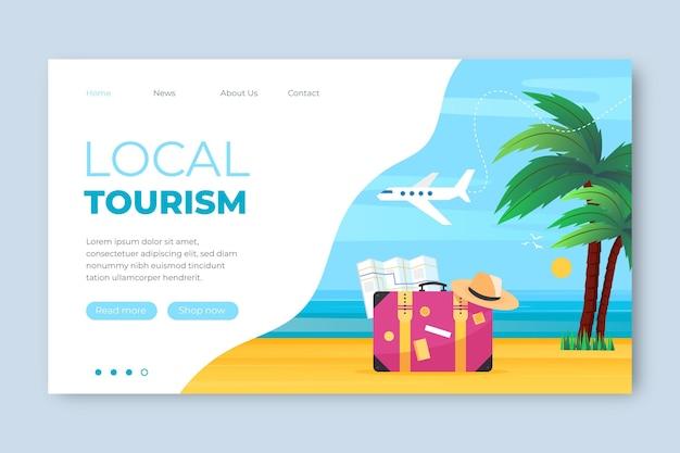 Turismo local - página de destino