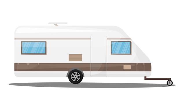 Turismo transporte veículo recreativo trailer trailer camping isolado