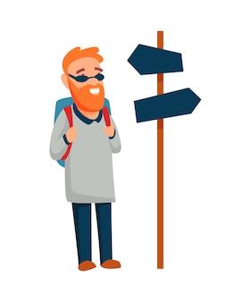 Turista. ilustração do conceito de estilo de vida ativo