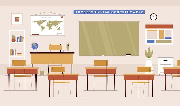 Turma escolar vazia - plano de fundo para videoconferência