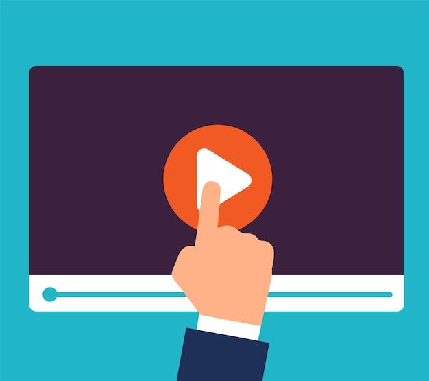 Tutoriais online. treinamento e educação em vídeo. estudo e aprendizagem