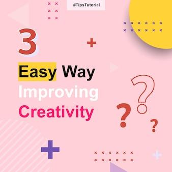 Tutorial de postagens de tutorial de dicas de mídia social rosa modelo de banner de título