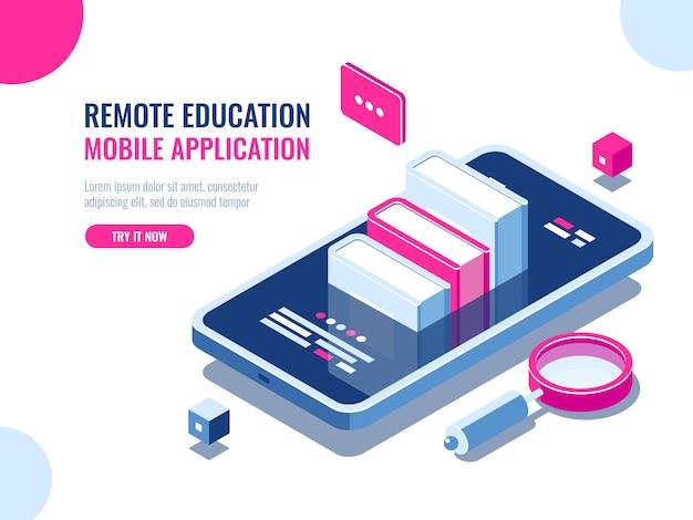Tutorial sobre aplicação de telemóvel, educação online, curso de internet, pesquisa de dados