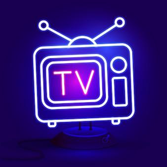 Tv de luz de néon abstrata