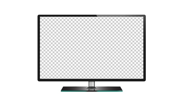Tv de tela plana lcd, plasma, monitor de tv led isolado