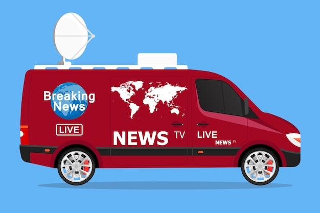 Tv news live van