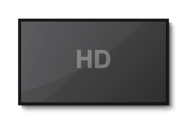 Tv, tela em branco moderna