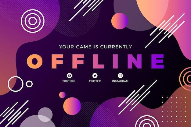 Twitch banner offline abstrato