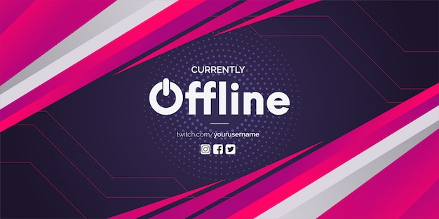 Twitch offline com formas abstratas